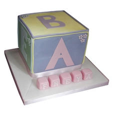 Cube Christening Cake from £90