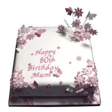 Butterflies & Flowers Cake from £125