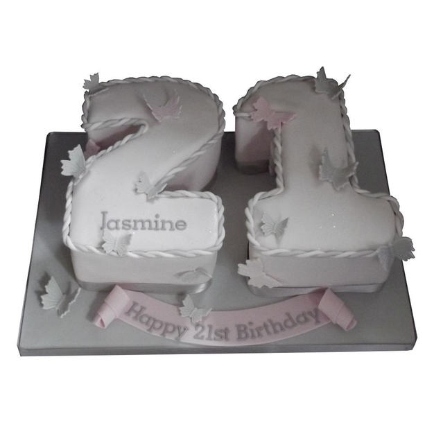 21st Birthday Cake with Butterflies from £100