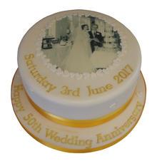 Golden Anniversary Cake from £70