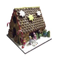 Snowman Gingerbread House