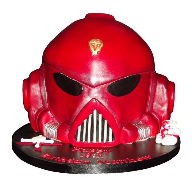 Blood Angel Head Cake from £175