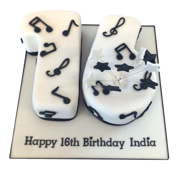 Musical 16th Birthday Cake from £100.