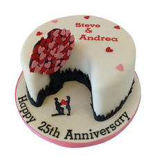 Silver Anniversary Cake from £85