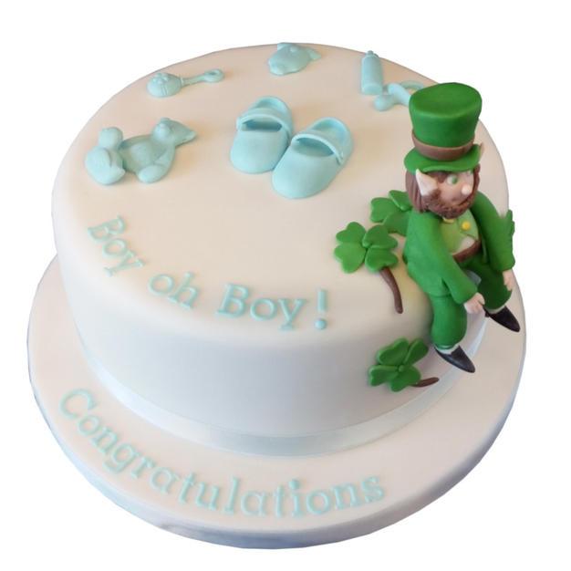 Irish-Themed Baby Shower Cake from £90