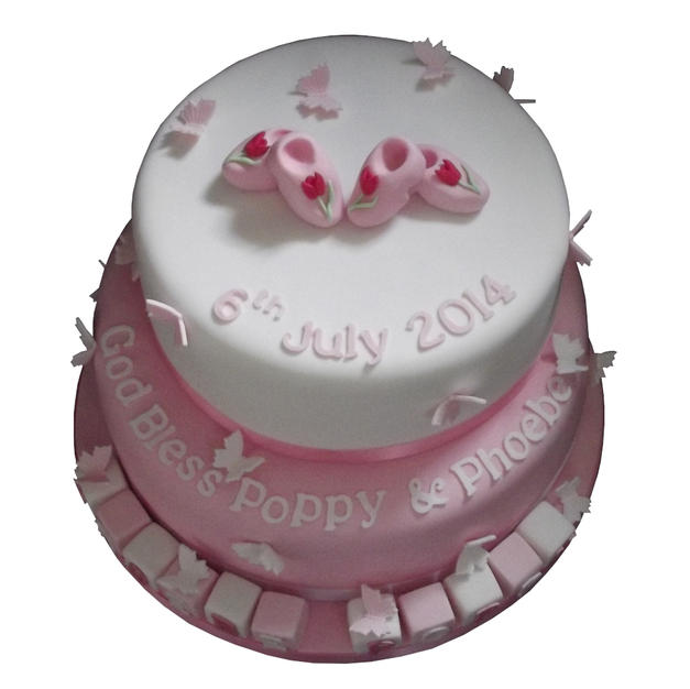 Cute Clogs Christening Cake from £150