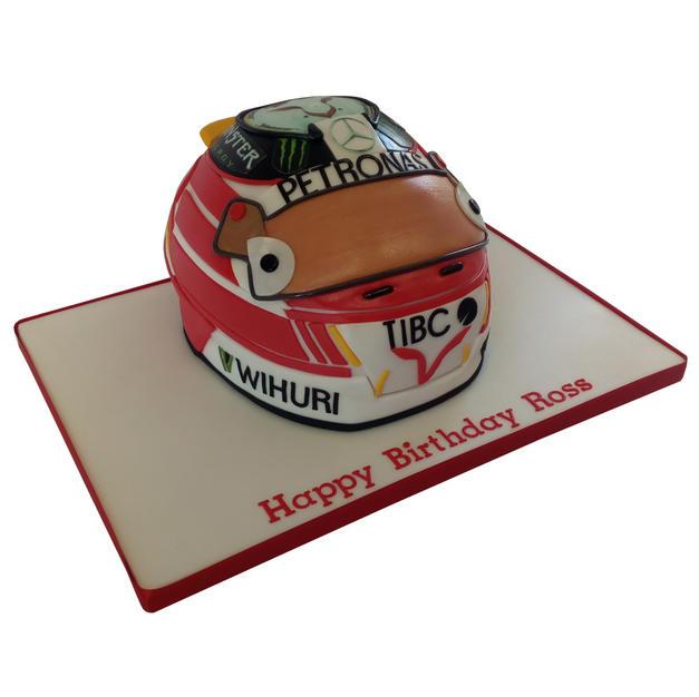 Louis Hamilton Helmet Cake from £95