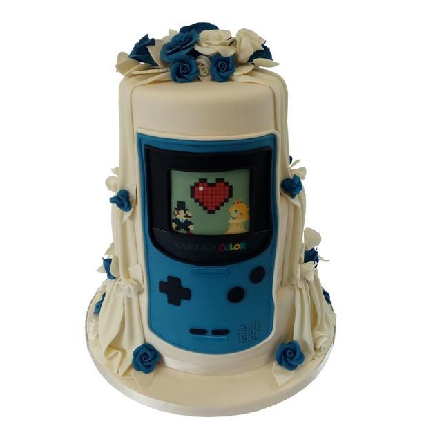 Mario Wedding Cake-Back