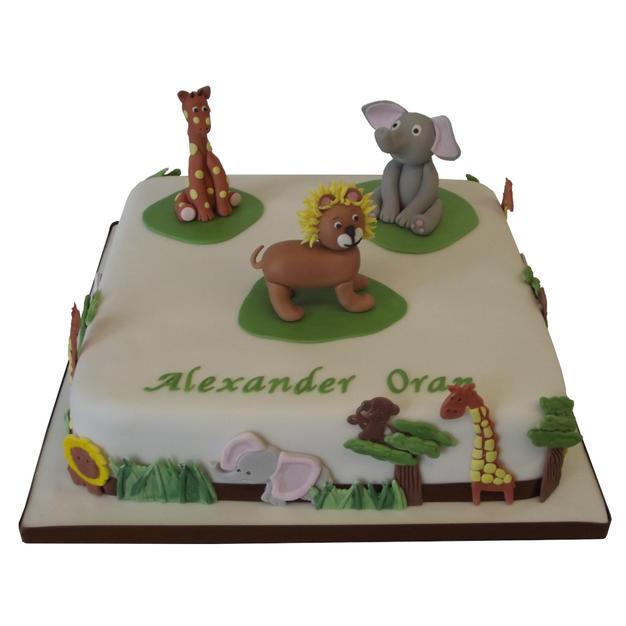 Animals Christening Cake from £150