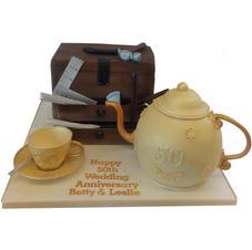 Golden Anniversary Cake from £200