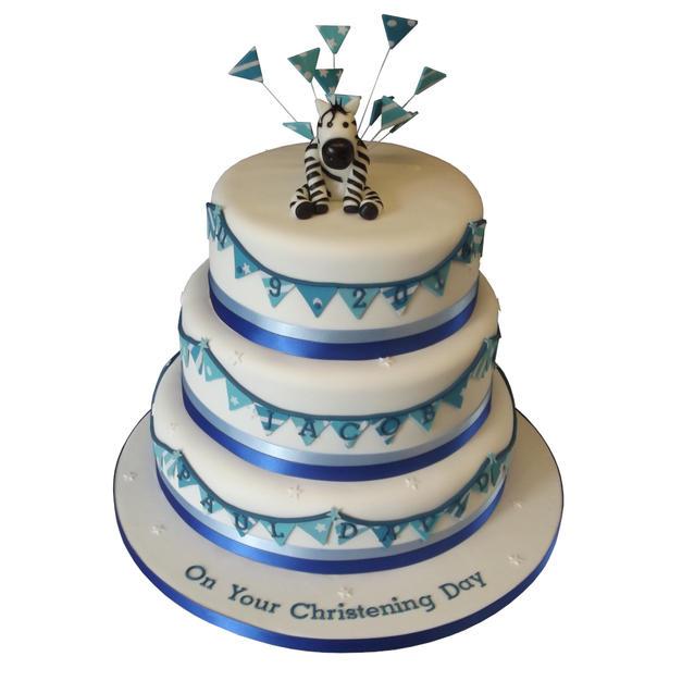Zebra Christening Cake from £250