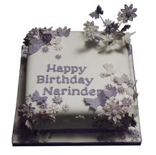 Butterflies & Flowers Cake from £95