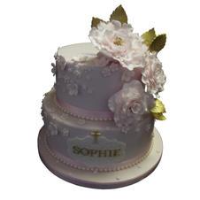Roses Christening Cake from £150