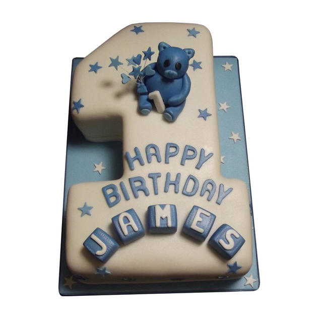 1st Birthday Cake with Teddy from £125