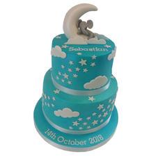 Sleepy Elephant Christening Cake from £150