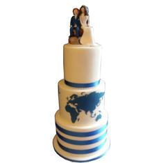 Travel  Wedding Cake