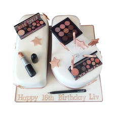 16th Birthday Cake with Make-up from £110