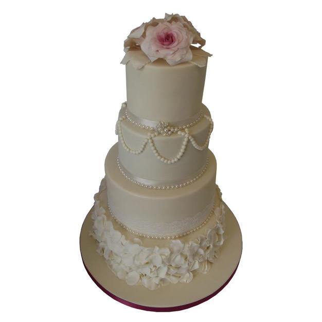 Pearls Wedding Cake