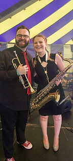 Jessica and the Rabbits brass section