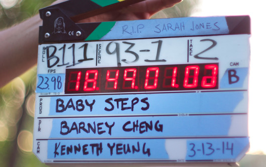 """Filming of """"Baby Steps"""""""