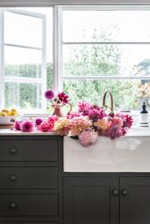 Cottonwood kitchen and dahlias - Cottonw