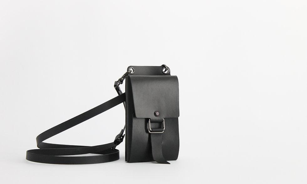 Belt Case Negro Simil Cuero