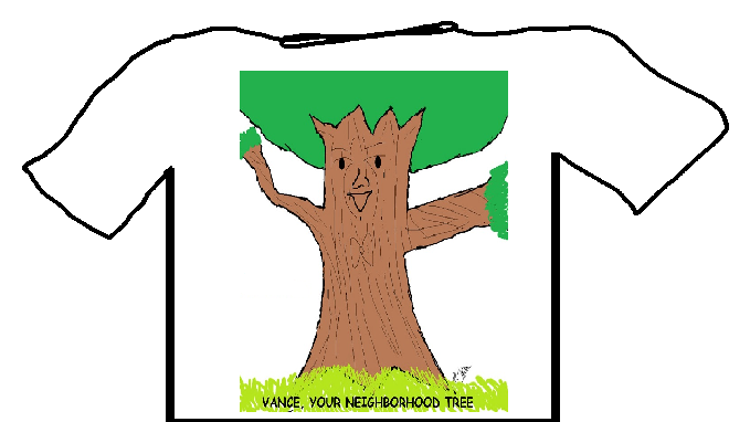 VANCE, YOUR NEIGHBORHOOD TREE SHIRT