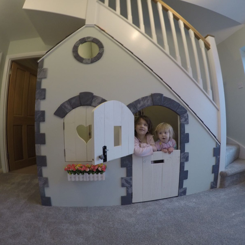 under stairs play house