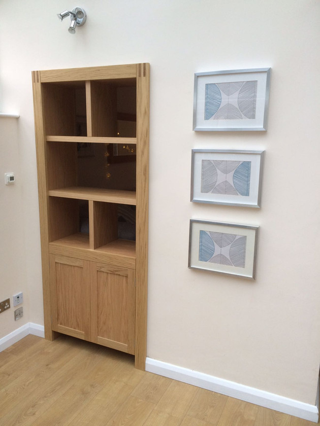 bespoke furniture for unused doorway - alternate view