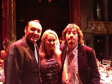Michelle Bishop, tevor nunn and kevin spacey at the old vic, london