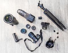 Equipo profesional de la cámara