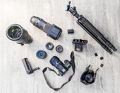 Equipamento de câmera profissional