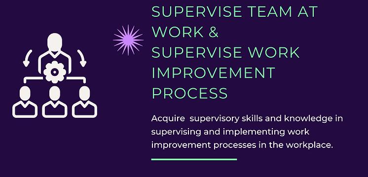 Supervise Team at Work Supervise Work Im