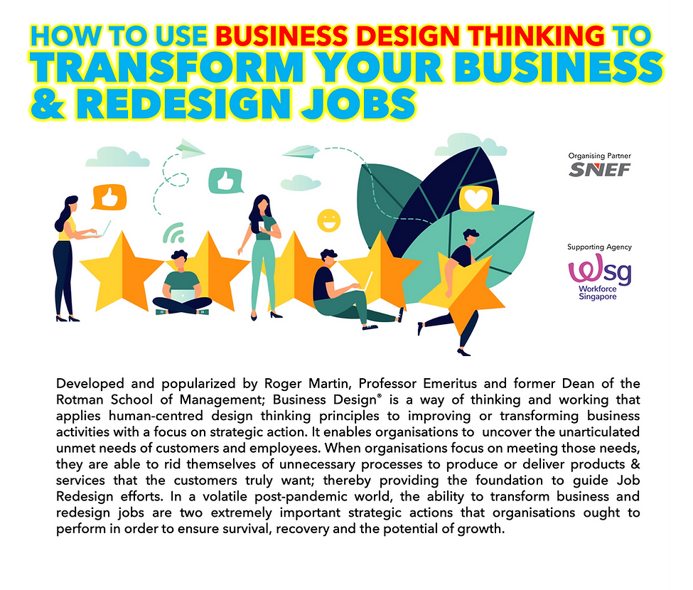 How to Use Business Design to Transform