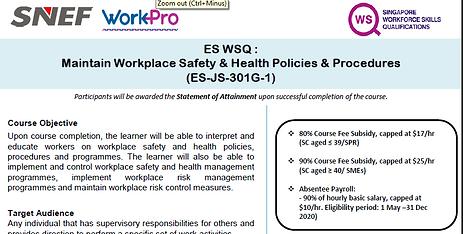 screenshot ES-WSQ-Maintain-Workplace-Saf