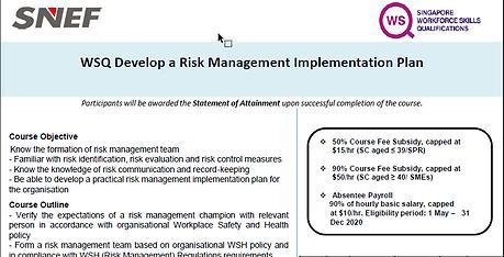 screenshot develop a risk management imp