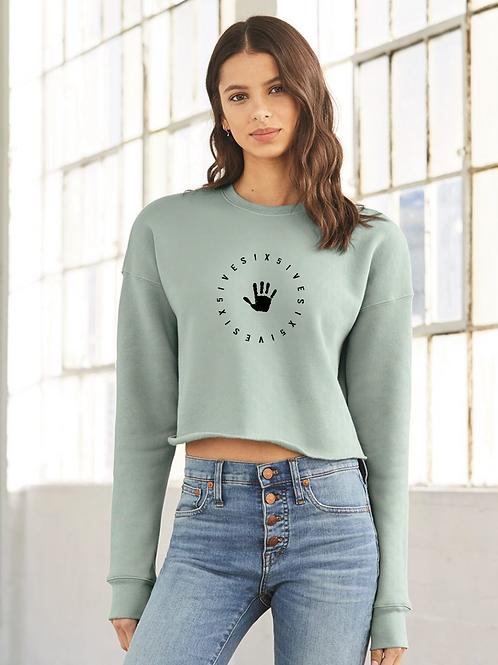 Women's Crop Sweatshirt - Turqoise