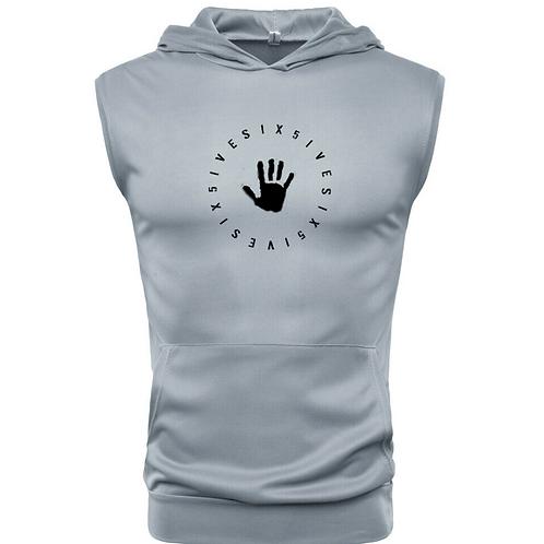 Men's Hooded Tank - Gray