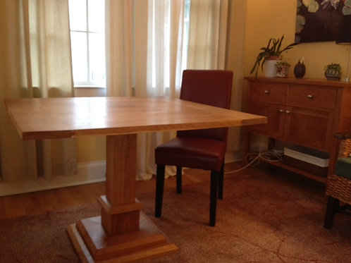 Small Cherry Pedastal Table