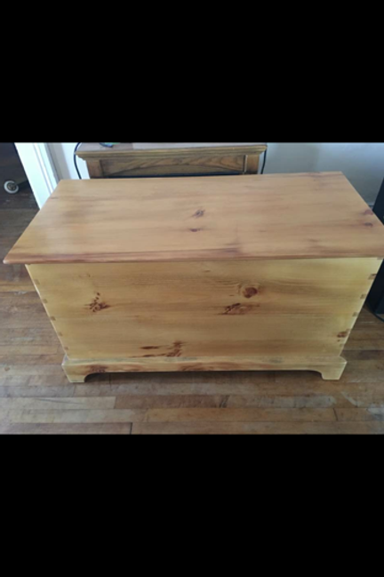 Hand Cut Dovetail Blanket Chest