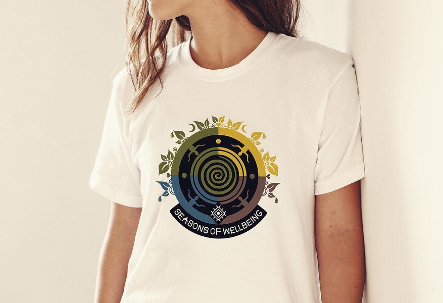 Free Girl T-Shirt Logo Branding Mock-up