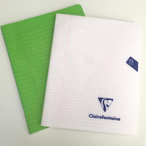 quaderno con copertina trasparente