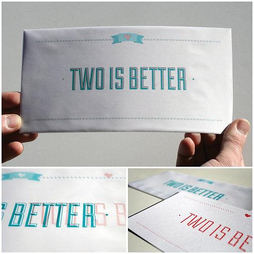 Two is better| Biglietto per una relazione importante