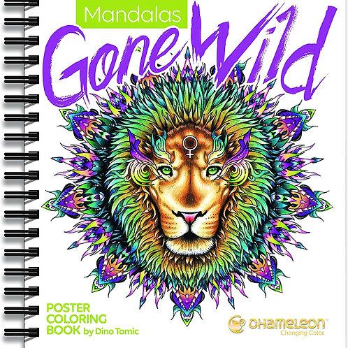 Chameleon Coloring Mandala Book