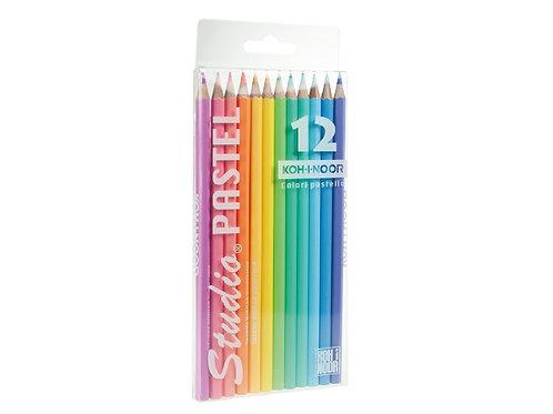 astuccio 12 matite color pastello