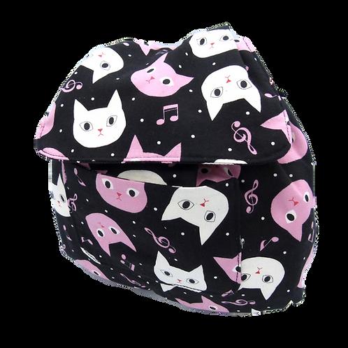 Zainetto di cotone fantasia gattosissima.