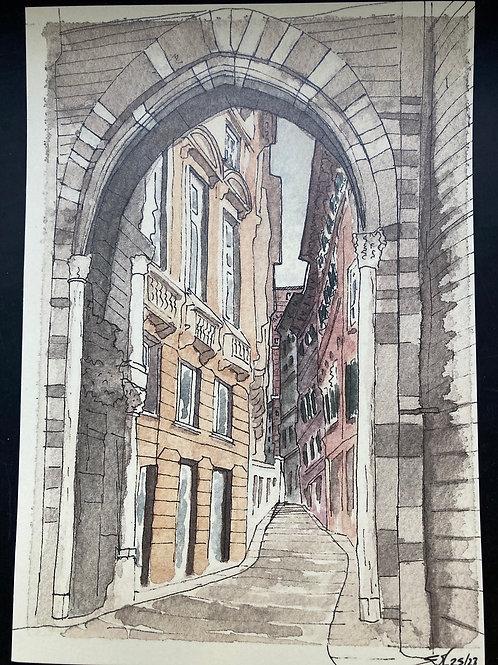 Cartoline di Genova di Edoardo Mosca