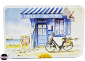 French Seaside Cookie Tin