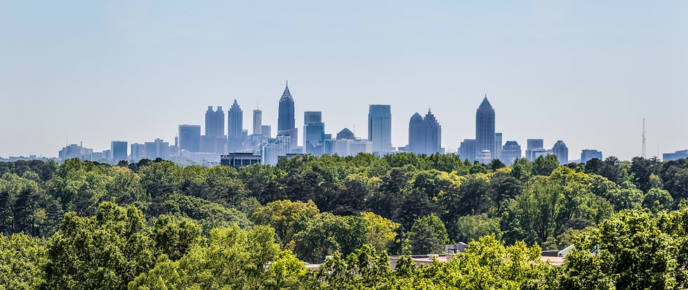 Downtown Atlanta Skyline showing several