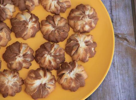 עוגיות פרחים חמאה ושוקולד ללא גלוטן ופליאו